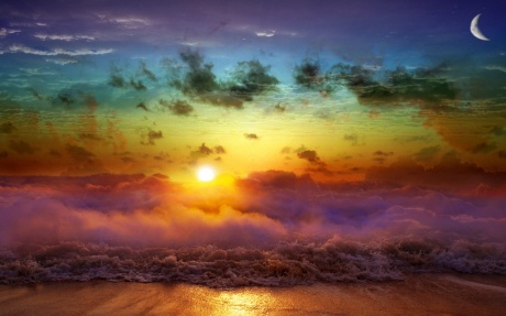 Beach-Rainbow-Art