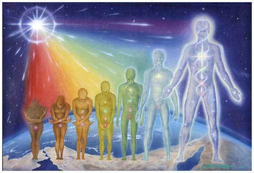 Changing into Crystalline Human Form